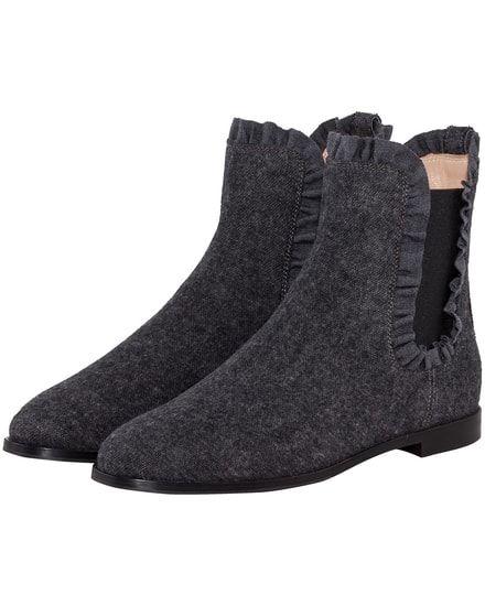 Chelsea Boots für Damen von Unützer in Dunkelgrau. Handmade