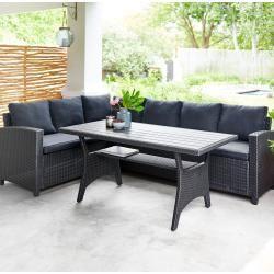 Eck Sofa Set Ullehuse Schwarz Mit Auflagen Danisches