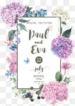 Vector Fashion Flowers Invitation Design Material Painted