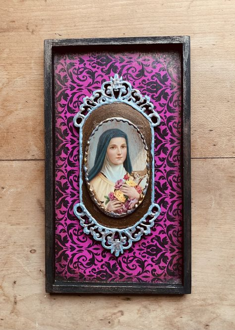 under 50 dollars Cross My Art By Lynn Webb Catholic one of a kind unique religious gift Blessed Mother art