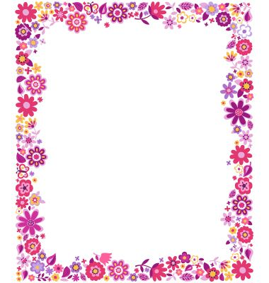 printable cover page flower design - Recherche Google cute flowers
