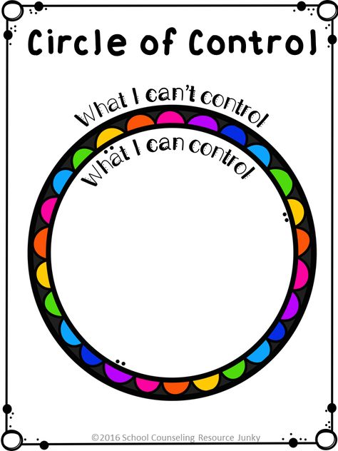 Early Elementary Counseling: What Are Things I Can Control & I Can't Control Circle of Control Activities for Individual Counseling, Small Groups, and Developmental Guidance Lessons. Elementary Counseling, Counseling Activities, Group Counseling, Art Therapy Activities, School Counselor, Anxiety Activities, Social Work Activities, Coping Skills Activities, Mental Health Activities