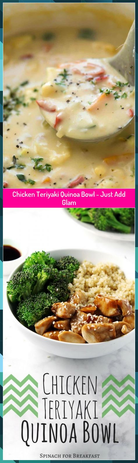 Chicken Teriyaki Quinoa Bowl - Just Add Glam #Add #Bowl #Chicken #Glam #Quinoa #Teriyaki