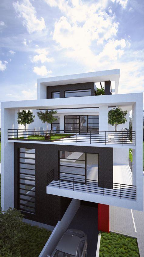 Casa Moderna De Amplio Territorio Casas Modernas Arquitectura