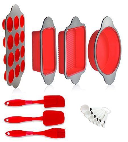 Silicone Baking Molds Pans And Utensils Set Of 13 By Boxiki