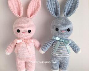 Crochet Amigurumi Sleeping Mate Bunny ( Price is for ONE BUNNY )