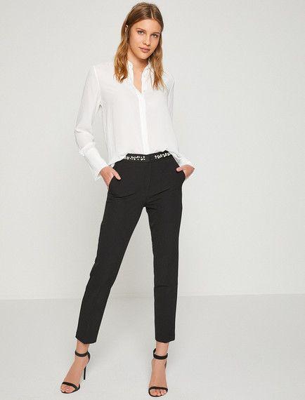 Inci Detayli Pantolon Fashion Pantsuit Pants
