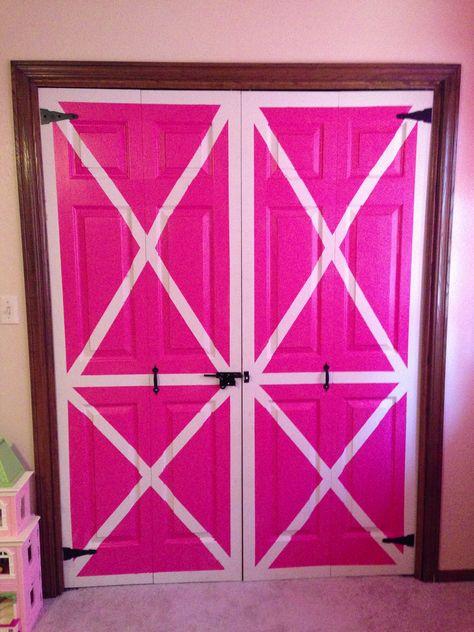 Katie's barndoor closet doors. :) perfect in her horse room