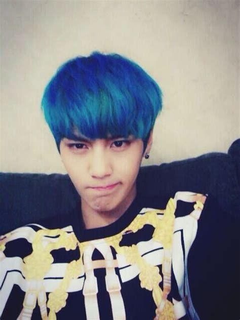 I Loved Suwoongs Blue Hair So Much Kpop Pinterest Boys Blue Hair Boys Republic Blue Hair