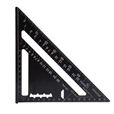 7 Inch Rafter Square Carpenter Square Aluminum Square Layout Tool With Black Oxide Finish Metric Layout Carpenter Tools