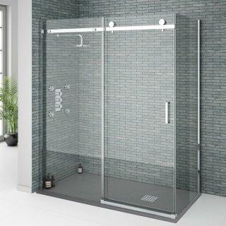 Shower Door Installation 3 Glass Panels Including Door In 2020