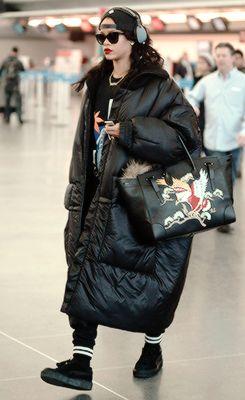 Rihanna at JFK airport