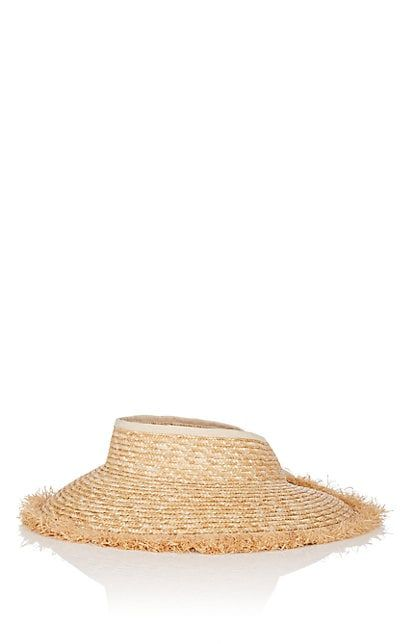 73162f870 We Adore: The Straw Visor from FiveSeventyFive at Barneys New York ...