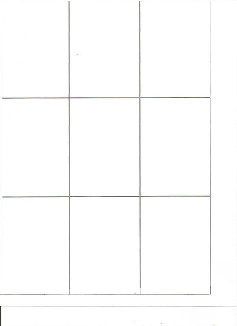 Artistic Trading Card ATC FRONT blank template 25 x 35 plain - trading card template