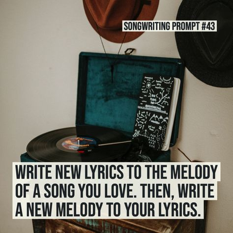 Free songwriting prompts created by Chicago-area musician, Julie Marie. Use these to spark creativity and jumpstart your writing! New prompts added all the time. Writing Lyrics, Music Writing, Writing A Book, Writing Prompts, Writing Help, New Lyrics, Yours Lyrics, Music Lyrics, Singing Lessons