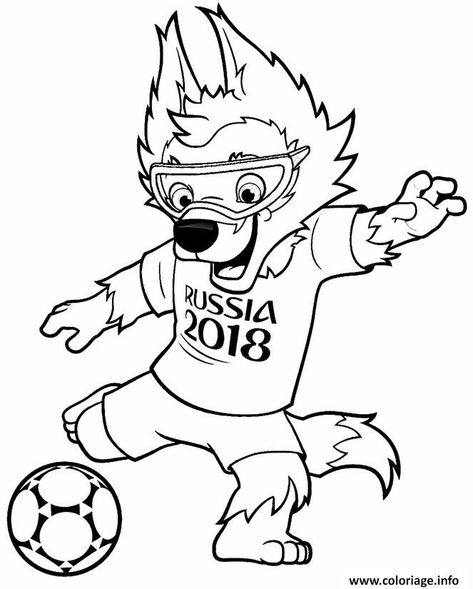 Coloriage Fifa World Cup 2018 Coupe Du Monde De Football Russie A