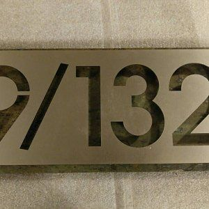House Sign Number Stainless Steel Customised and Engraved 300 x 300