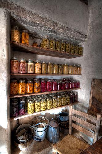 Farmhouse pantry, food storage, storage idea, root cellar, canning and preserving Country Life, Country Living, Country Farm, French Country, Country Roads, Farmhouse Style, Farmhouse Decor, Modern Farmhouse, Farmhouse Interior