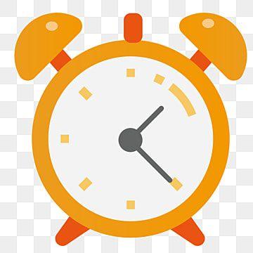 Orange Cartoon Alarm Clock Illustration Clock Clipart Yellow Alarm Clock Clock Png And Vector With Transparent Background For Free Download Clock Clipart Clock Drawings Clock