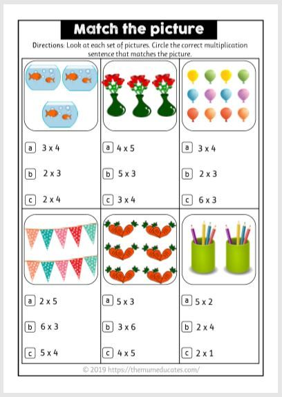 Multiplication Teaching Multiplication Multiplication 2nd Grade Math Worksheets Multiplication worksheets with pictures