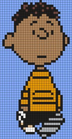 Franklin From Snoopy And The Peanuts Gang Perler Bead