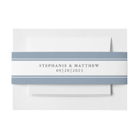 Elegant Dusty Blue Chic Border Wedding Suite #elegantwedding #dustyblue #frame #elegant #chicwedding #calligraphy #typography #simple #borders #mailing