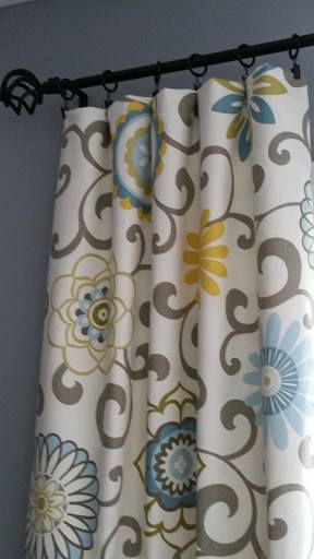 Yellow And Blue Curtains Drapery Panels Valances Gray Yellow