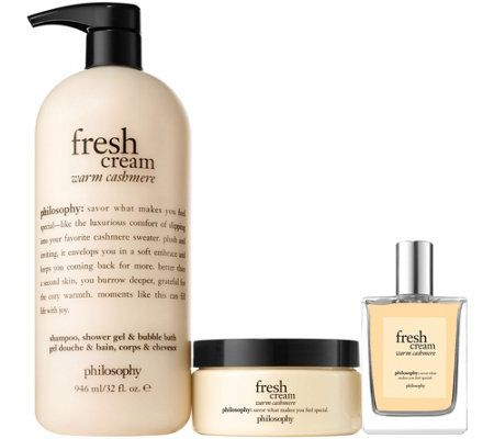 Philosophy Sweet And Luxurious 3 Piece Layering Kit Qvc Com Philosophy Fresh Cream Tanning Mousse Fragrance Spray