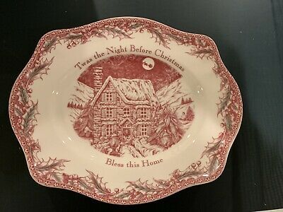 Johnson Brothers Twas The Night Before Christmas Oval Bread Tray Platter Nwt The Night Before Christmas Before Christmas Twas The Night