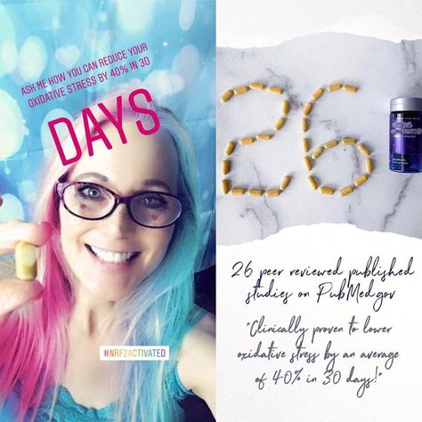 I've been Nrf2 Activated for a year now. Here's what I've discovered on my own health journey, I am... A lot less anxious.😊 Sleeping deeper and waking up refreshed--whether I get 5 or 8 hours of sleep.  More energized throughout the day.🚀 In a better mood.  Able to move more freely! Especially in my hips, knees and hands. I can easily typ