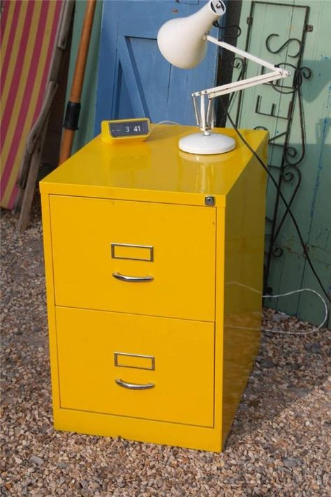 Vintage Bisley Metal Filing Cabinet Original Bright Retro Yellow Industrial Chic Filing Cabinet Metal Filing Cabinet Industrial Chic Interior