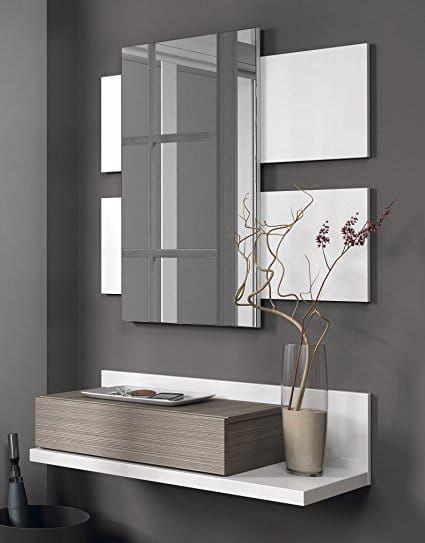 Meuble d\u0027entrée avec miroir moderne VERATY déco Pinterest