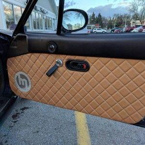 Quilted Leather Door Panels Handmade For Miata Na Mk1 The Ultimate Resource For Mazda Miata Parts Custom Car Interior Miata Custom Van Interior