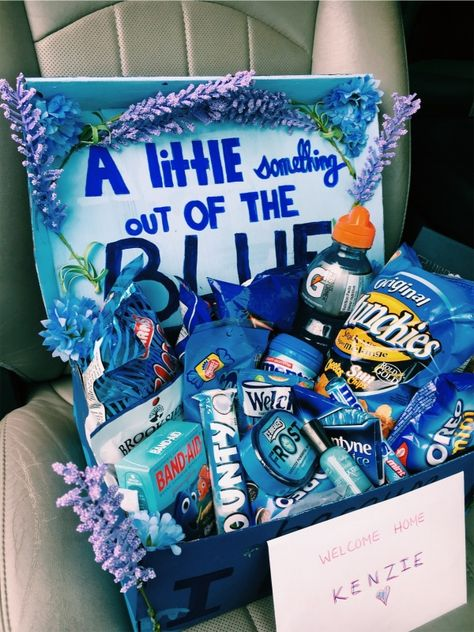 Gifts box for boyfriend blue Ideas - Birthday gift baskets - Cute Birthday Gift, Birthday Gift Baskets, Happy Birthday Gifts, Birthday Gifts For Best Friend, Card Birthday, Birthday Greetings, Birthday Presents, Bestfriend Birthday Ideas, 21st Birthday