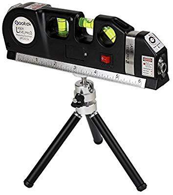 Qooltek Laser Level Line Laser Measure 8ft Tape Ruler Adjusted Standard And Metric Rulers With Metal Tripod Stand Black Amazon Com Ferramentas