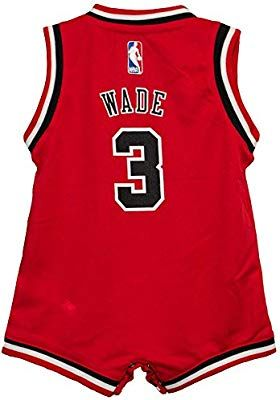 new concept 25c3e 31e9b Amazon.com : Chicago Bulls Dwyane Wade Red Infant Onesie (12 ...
