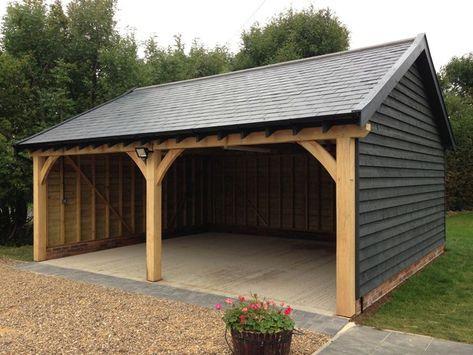 61 Best Ideas Storage Shed With Carport Car Ports In 2020 Carport Designs Garage Construction Timber Garage