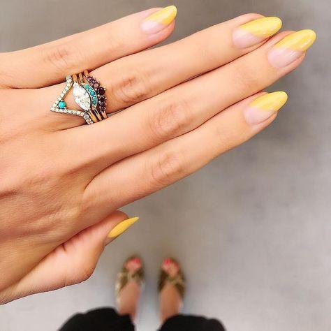 Swarovski crystals   Coffin shape nails, Bling nails