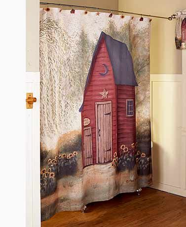 Outhouse Bathroom Collection With Images Shower Curtain Decor