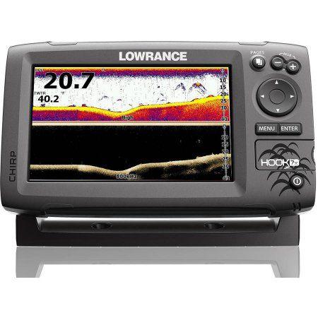 LOWRANCE Hook-5x Sonar Chirp DownScan Sounder Fishfinder Xdcr 000-12653-001 NEW