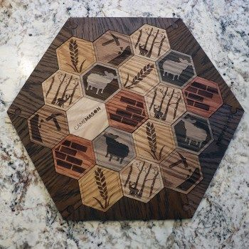 Deluxe Wooden Catan Set White Oak With Insets 5 6 Player