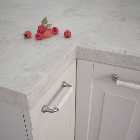 Getalit Concrete White Bn 230 Si Square Edged Worktop 4100mm X 650mm X 39mm Rearo Laminates Laminate Worktop Laminate Kitchen Laminate Kitchen Worktops