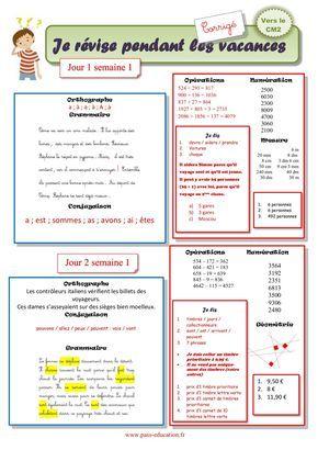 Cahier De Vacances Gratuit A Imprimer Cm1 Vers Le Cm2 Juillet Cahier De Vacances Gratuit Cahier De Vacances Cm1