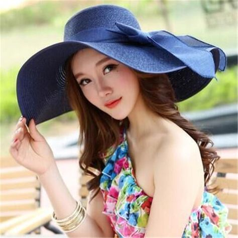 Straw Hats For Women s Female Summer Ladies Wide Brim Beach Hats Sexy  Chapeau Large Floppy Sun Caps New Brand Spring Praia  sunhat  strawhat   summerhat   ... 5050f542c403