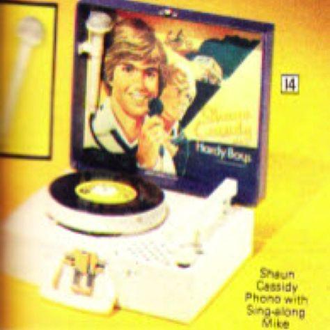 Shaun Cassidy record player