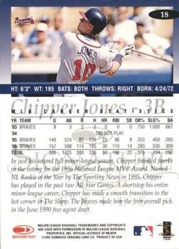 1997 Donruss Signature #18 Chipper Jones Back | 1997