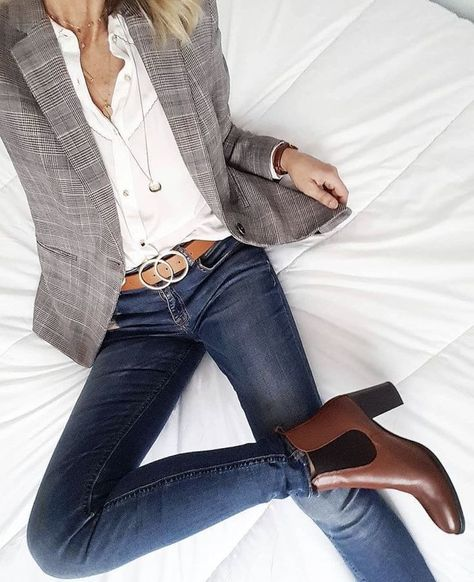 Business casual blazer jeans