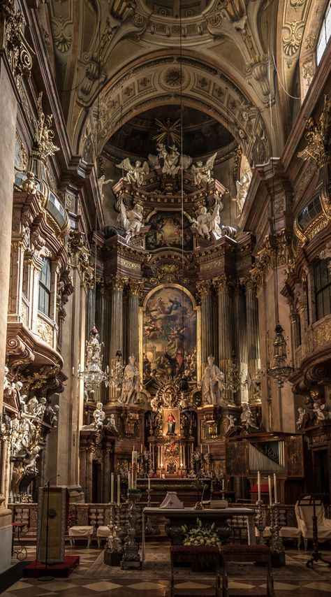 The Peterskirche is a Catholic Church that is a great example of Baroque architecture. It resides in Vienna, Austria. Construction for the building began in This shows Baroque architecture through its excessive ornaments/decorations and high ceilings. Baroque Architecture, Ancient Architecture, Beautiful Architecture, Church Architecture, Architecture Definition, Architecture Design, Architecture Sketchbook, Renaissance Architecture, Architecture Student