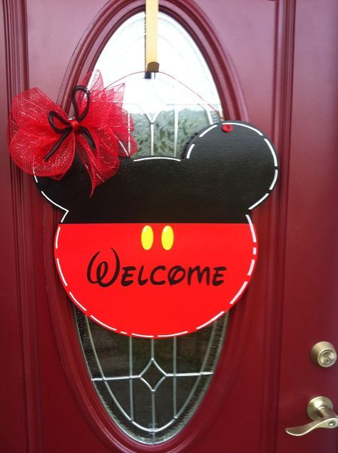 Mickey Mouse door hanger, Disney door hanger, Mickey , Mickey Mouse , santa face, santa head - pinned by pin4etsy.com