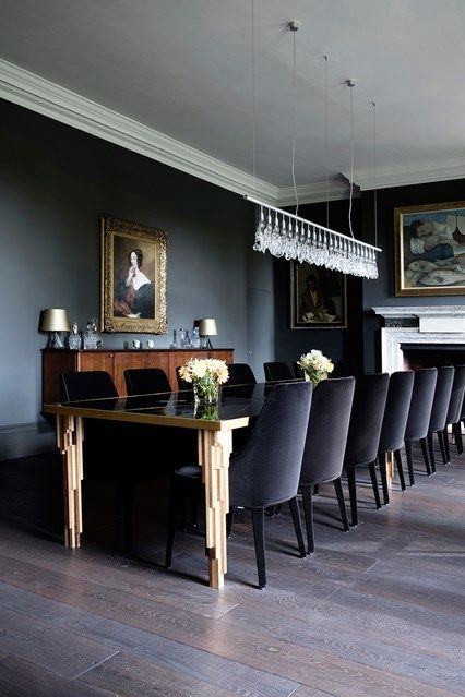 How To Decorate With Dark Colours Luxury Dining Room Black Dining Room Country Dining Rooms